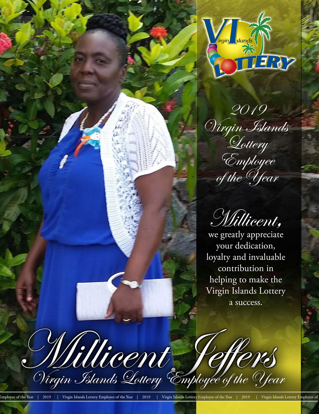 Millicent Jeffers - 2019 Virgin Islands Lottery Employee of the Year