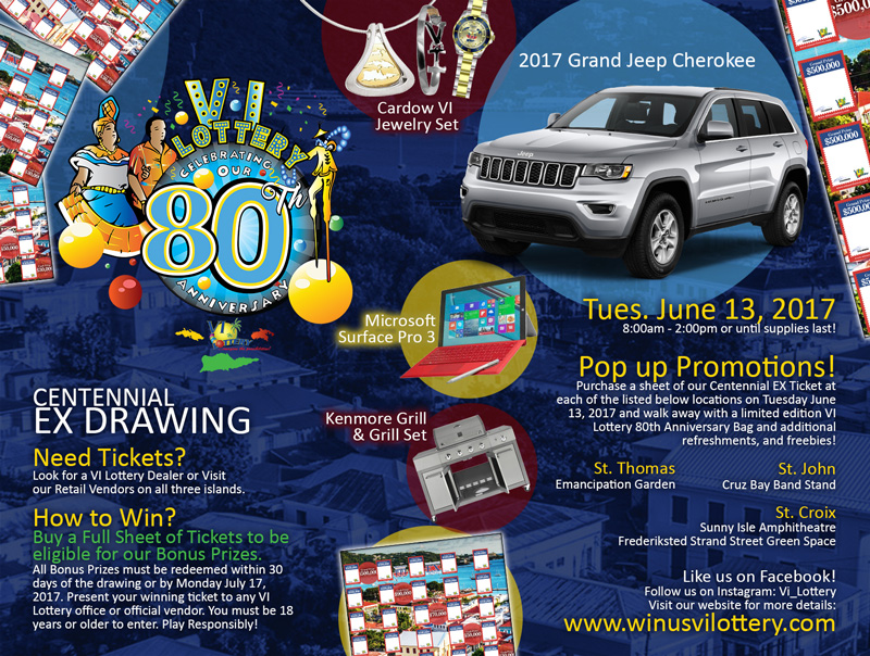 Live Streaming Video of the June EX Centennial Drawing