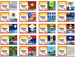 VI Lottery Our Islands' Flags Ticket Now on Sale!